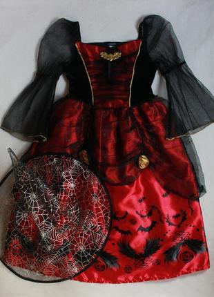 Карнавальное платье на хеллоуин george для девочки 5-6 лет(рост 110-116 см)