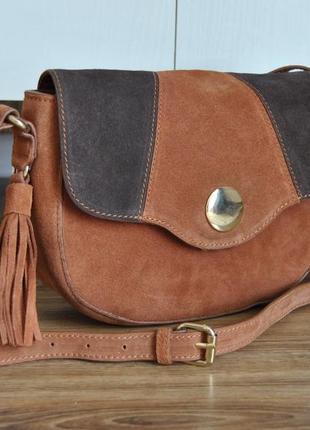 Кожаная сумка кроссбоди jones bootmaker / шкіряна сумка