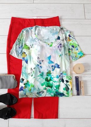 Чудесная футболка в нежнейшие акварельные цветы