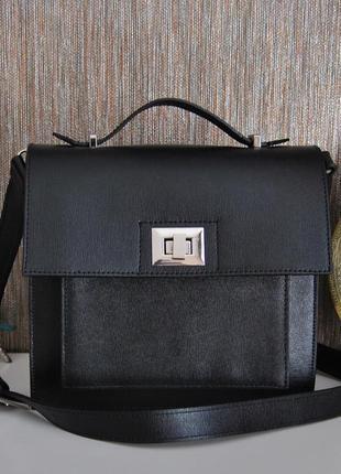 Кожаная каркасная сумка кроссбоди cop.copine monyk / шкіряна сумка