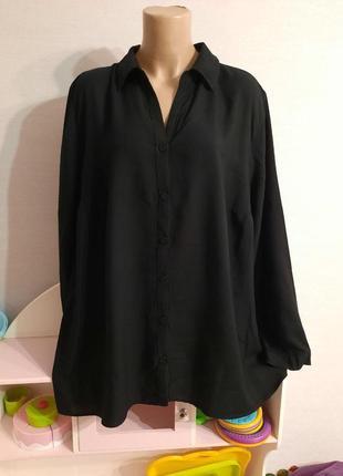 Натуральная вискозная блуза с шифоновой вставкой на спинке, пог-68