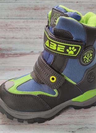 Детские зимние термо ботинки сноубутсы для мальчика 27р 29р 337-1а