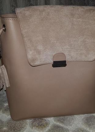 Новый бежевый рюкзак