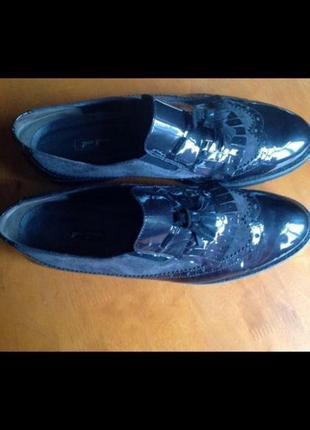 Новые австрийские кожаные туфли слипоны лоферы paul green 43 {28.5} на широкую ногу