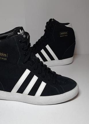 Замшевые кроссовки,кеды,сникерсы adidas (адидас) basket profi