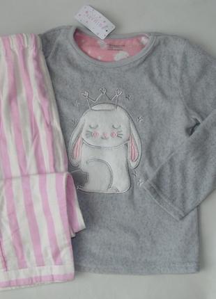 Пижама флис-байка primark англия 5-6 лет 116 см