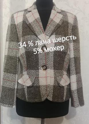 Шерстяной жакет в стиле chanel p.12 biba, пиджак, шерсть, мохер