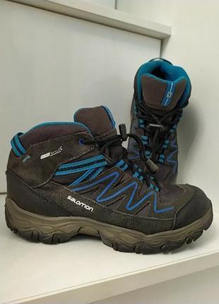 Теплые фирменные термо ботинки 21 см