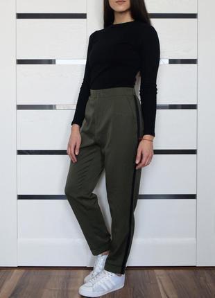 Штаны-брюки с лампасами от new look