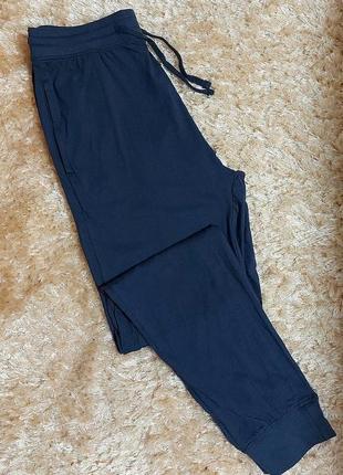 Мужские штаны для дома с карманами на манжетах