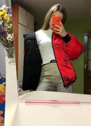 Двусторонняя зимняя куртка оверсайз