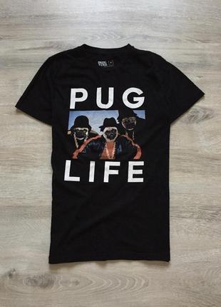 Футболка pug life с мопсами