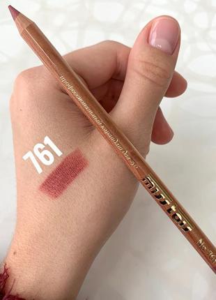 Матовый карандаш miss tais №761 для губ темно-розовый мисс таис чехия