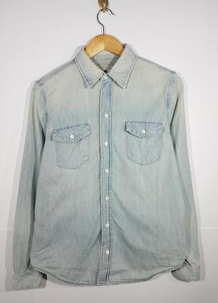 Polo ralph lauen m denim рубашка женская джинсовая светло синяя
