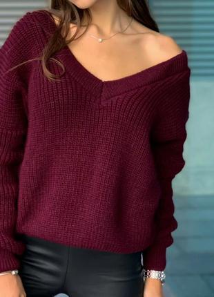 Стильные женские свитера мыс