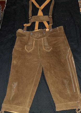 Кожанные баварские штаны октовберфест.