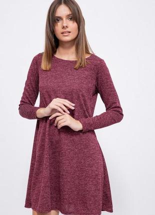 Платье, цвет бордовый