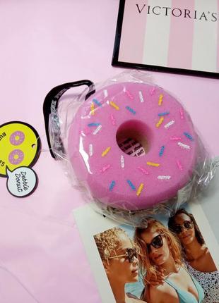 Яскрава губка для душу пончик)🍩 victoria's secret pink