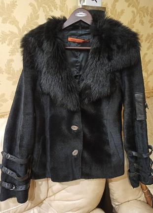 Дубленка куртка меховая, косуха пони
