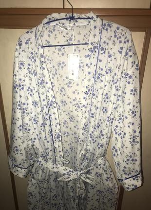 Очень крутой натуральный халат большого размера 58-64р.