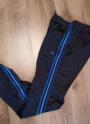 Штаны спортивные adidas climalite s xs адидас с полосами