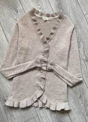 Шерстяная кофта свитер джемпер