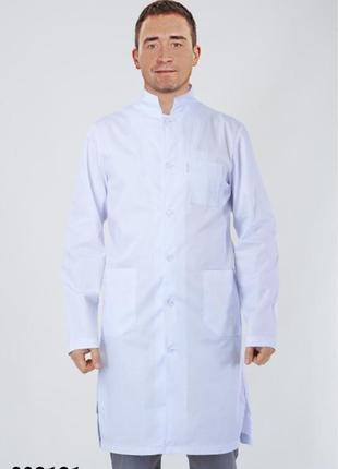 Халат белый, медицинский, коттон, р. 40-54; мужская мед. одежда, 893121