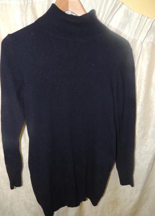 Темно-синий   кашемировый свитер-джемпер navyboot  s-m
