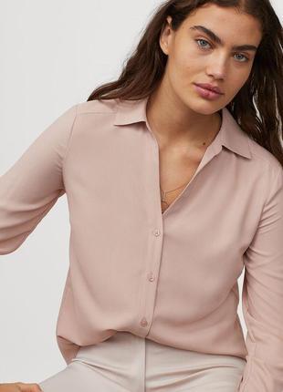 Нежная формальная блуза пыльная роза  h&m 54-56