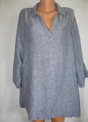 Блуза рубашка лен