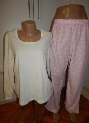 F&f костюм домашний скомбинированный пижама флисовая кофта со штанами рм