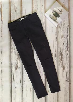 Графитовые джинсы скинни h&m p xs-s подросток