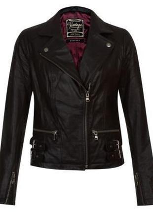 Черная натуральная кожанка косуха карманами молниями батал большой размер плюс сайз куртка
