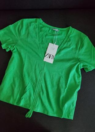 Котонова футболка zara