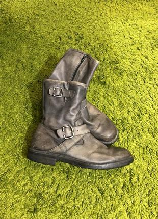 Мужские ботинки высокие натуральная кожа 42 28,5см