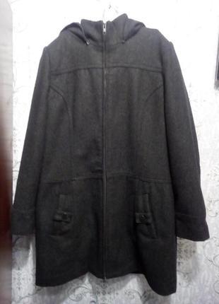 Пальто демисезонное шерстяное pimkie, размер 40 евро=46 наш