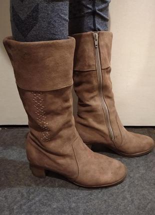 Женские зимние сапоги, жіночі зимові замшеві чоботи