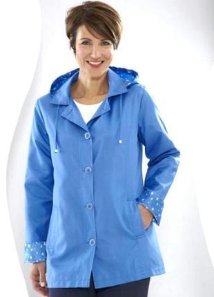 Брендовая легкая куртка ветровка с капюшоном anne de lancay этикетка большой размер