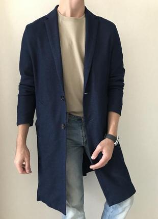 Трикотажный тренч пальто