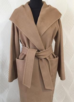 Пальто-халат на запах из верблюжьей шерсти max mara первая линия