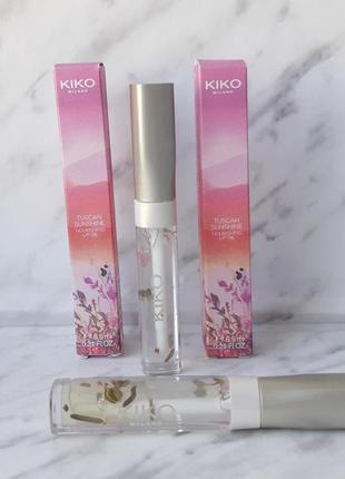 Питательное масло для губ с просописом и розовым цветком kiko