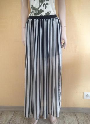 Распродажа#юбка в пол#длинная юбка#юбка в полоску#шифоновая юбка#