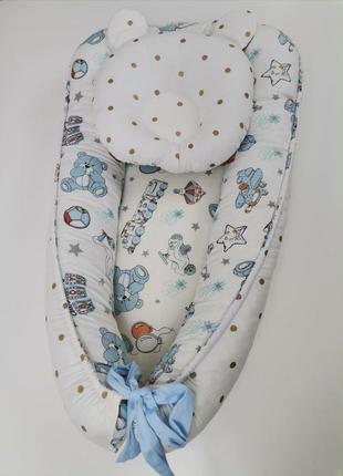 Подушка для младенца артопидическая с ушками