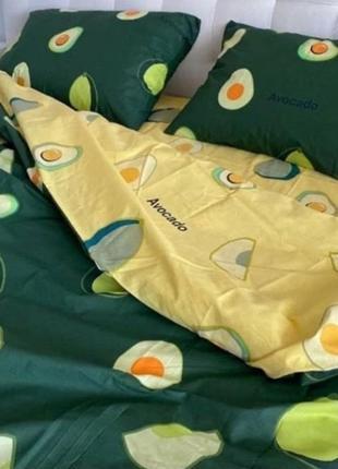 Комплекты постельного белья авокадо, комплекти постільної білизни