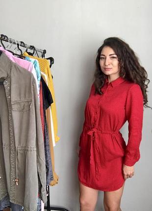 Стильное платье-рубашка из хб ткани ❤️warehouse  с,м