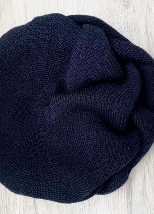 Берет шапка женская тёмно-синяя новая тёплая в составе шерсть la vivas
