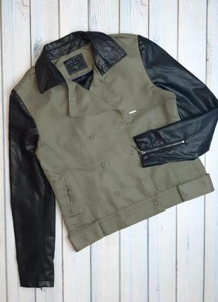 💥1+1=3 брендовая куртка косуха демисезон guess оригинал, размер 46 - 48
