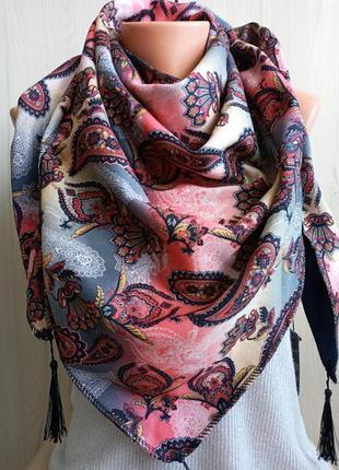 Роскошная женская косынка на флисе, теплый платок, очень теплая и мягкая