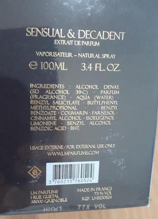 Продаю нишевый парфюм sensual & decadent laurent mazzone parfums3 фото