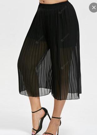 Плиссированные шифоновые брюки